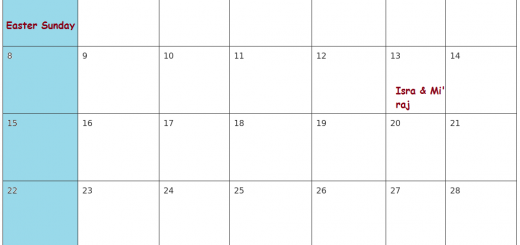 April Calendar 2018 Malaysia Printable Templates