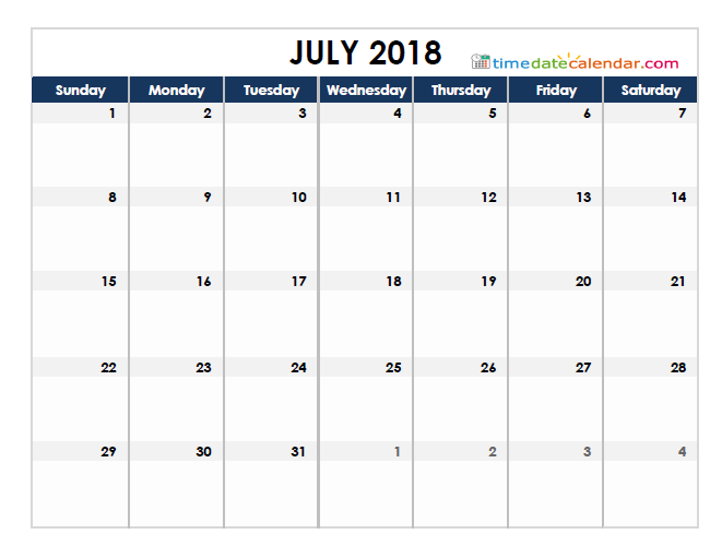 Philippines Calendar 2018 July