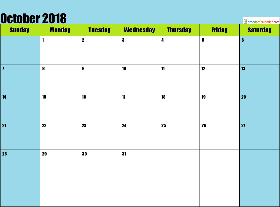 Philippines Calendar 2018 October