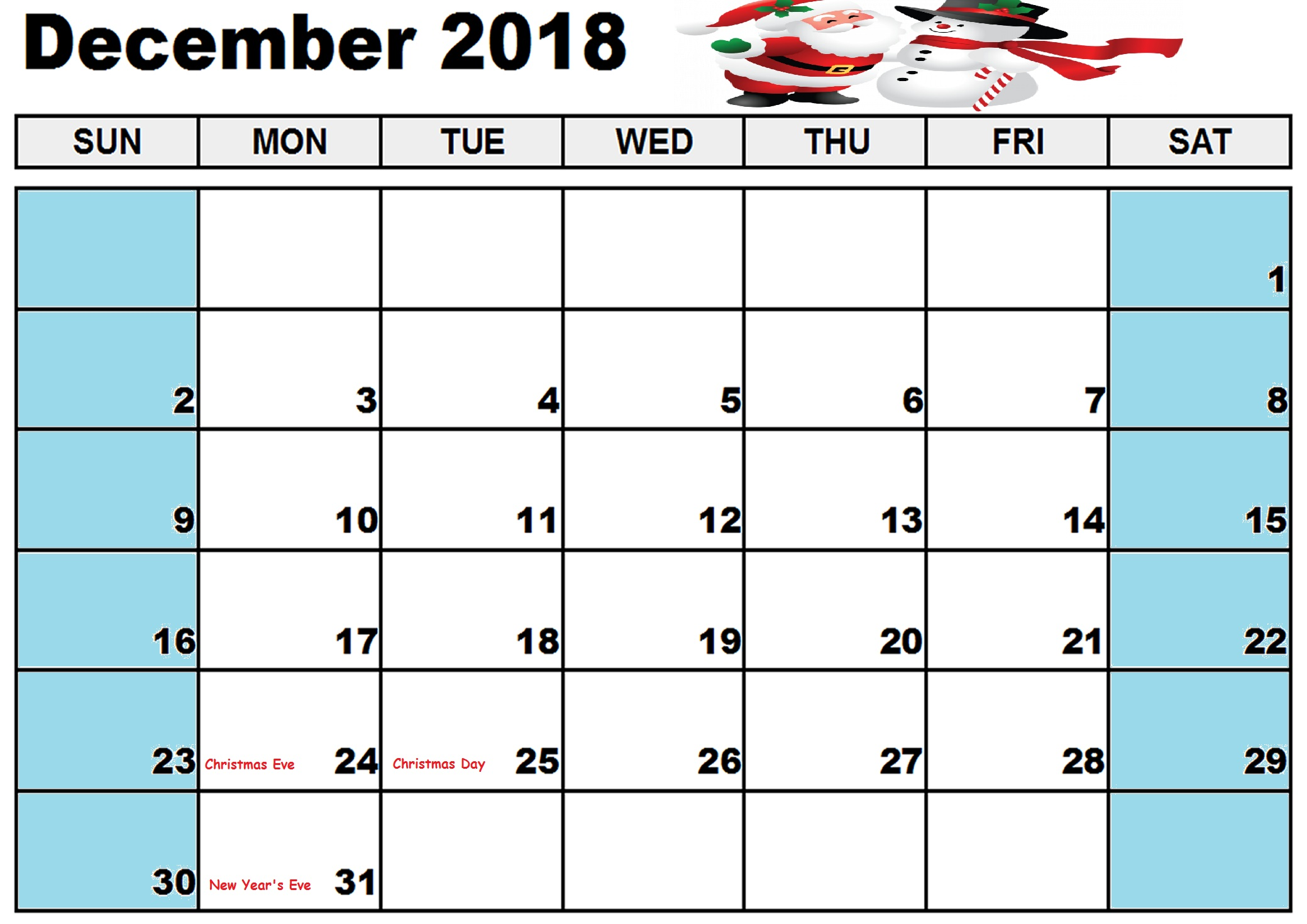 photo relating to Printable December Calendar identify December Calendar 2018 Malaysia - Absolutely free Printable Template