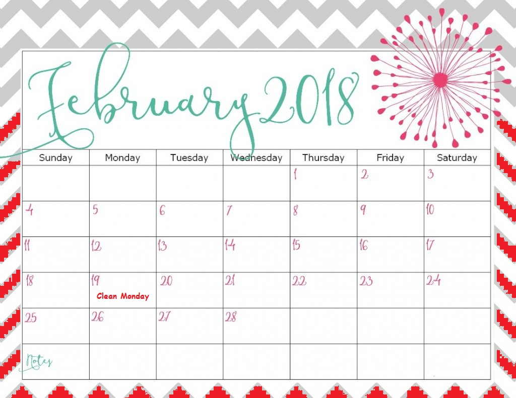 Calendar Feb : February greek calendar printable template download