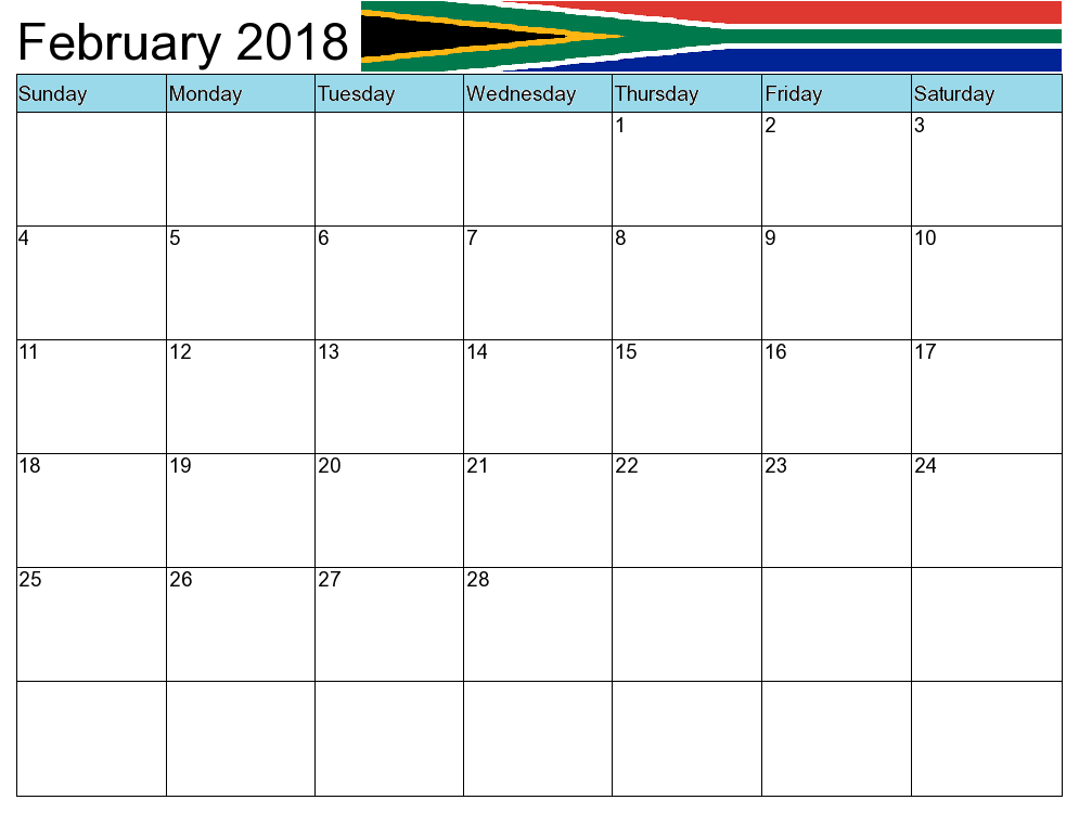 South Africa Holidays 2018