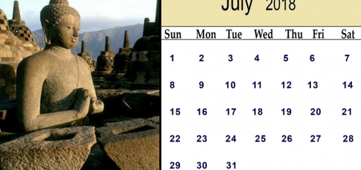 2018 July Calendar Indonesia Printable Templates