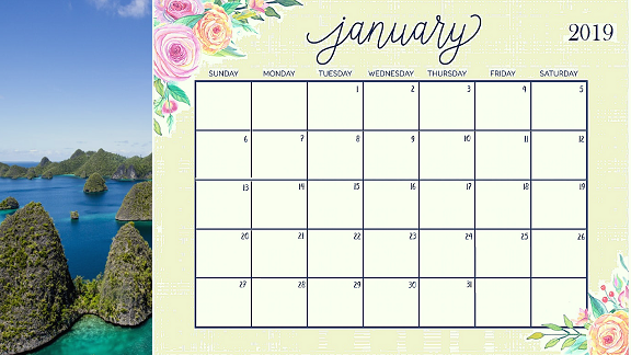 January Calendar 2019 Malaysia Free Printable Templates