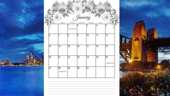 Image result for January 2019 holiday calendar