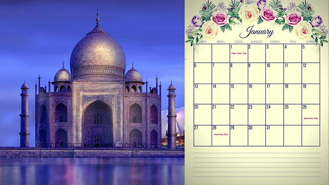 January 2019 Calendar Australia Printable Templates