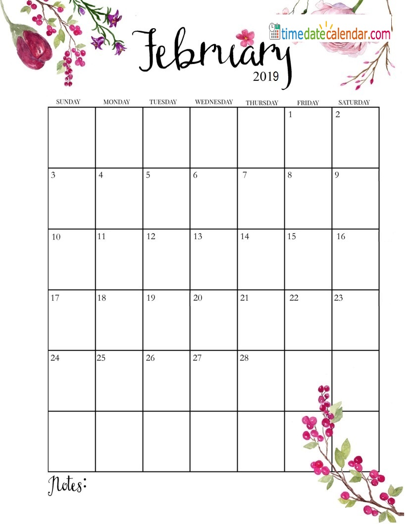 February Calendar 2019.February 2019 Calendar Free Printable Template Download