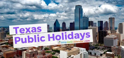Texas Public & National Holidays 2020